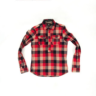 Scotch & Soda Red Half-through Zip Flannel