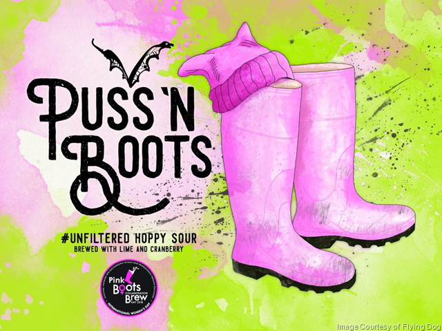 """Flying Dog Releasing Pink Bots Collaboration """"Puss 'n Boots"""" 4/20"""