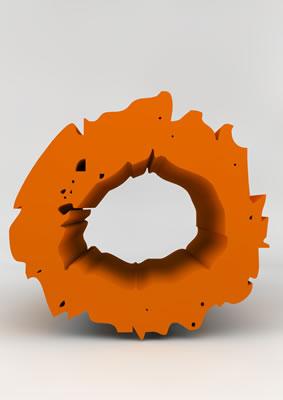 lettre 3D chiffron de craie orange - 0 - images libres de droit