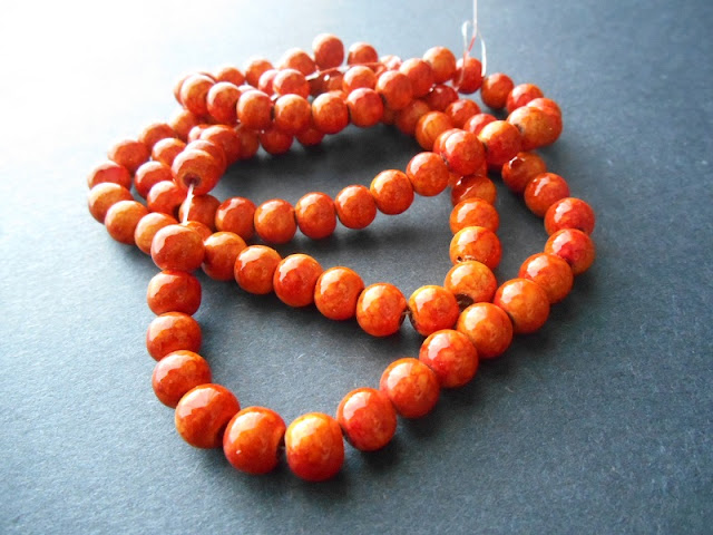 Orange Glass Beads