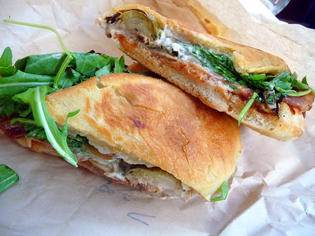Bunk Sandwiches, Tommy Habetz, Roasted Brussels Sprouts, Apple Chutney, Gruyere & Horseradish sandwich