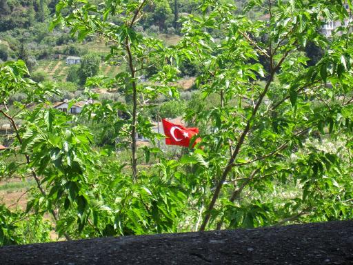 Turkish flag,Sirince