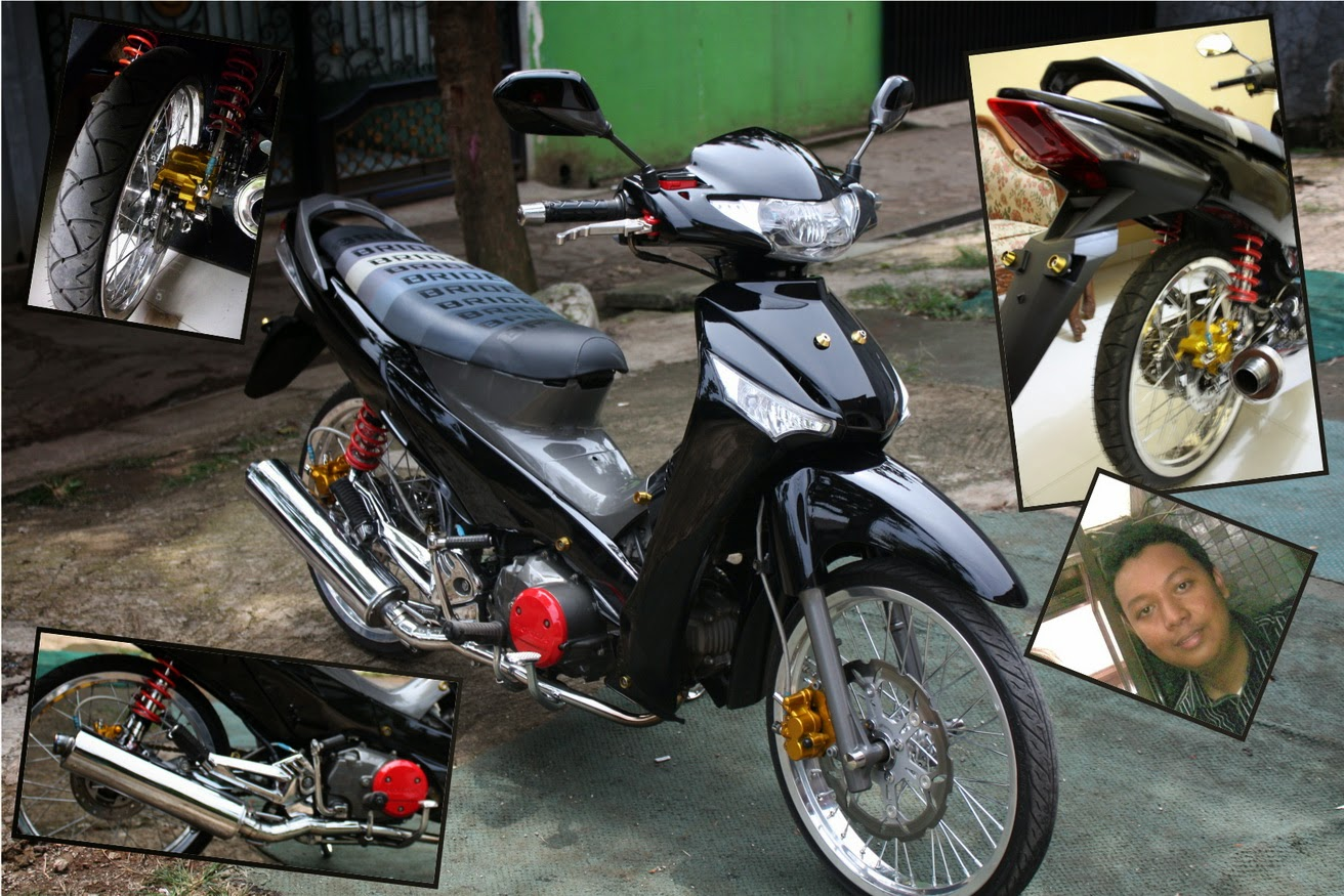 Modifikasi Motor Supra X 125 Airbrush