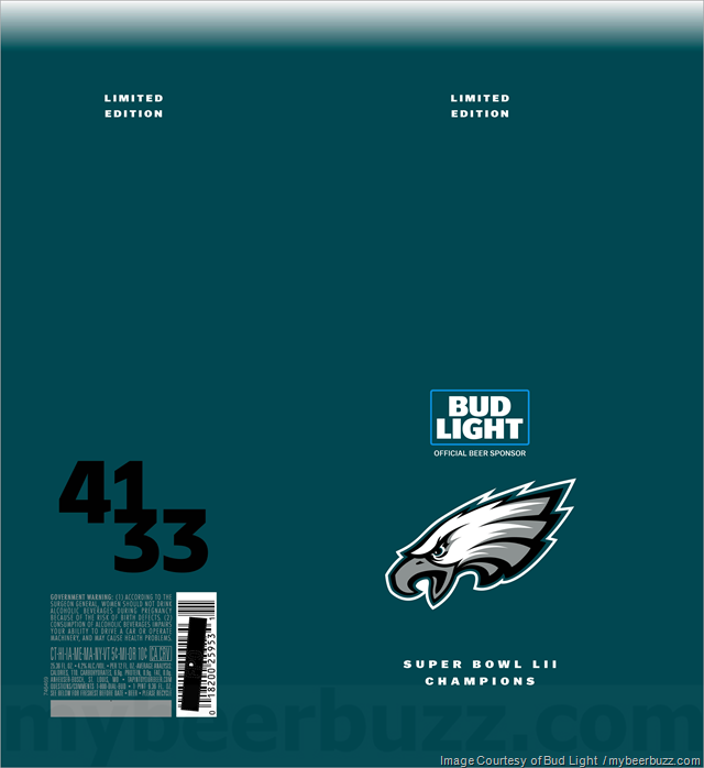 Bud Light Adding Eagles Super Bowl LII Champions Cans