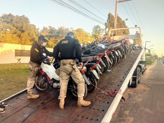 Motocicletas roubadas são recuperadas pela PRF na BR-222 em Chapadinha/MA