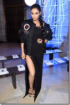 NEW YORK, NY - FEBRUARY 13:  Shay Mitchell attends the Front Row for the Philipp Plein Fall/Winter 2017/2018 Women's And Men's Fashion Show at The New York Public Library on February 13, 2017 in New York City.  (Photo by Dimitrios Kambouris/Getty Images for Philipp Plein)