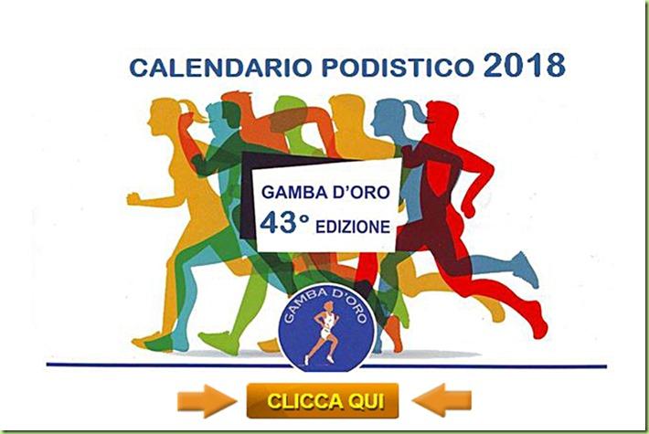 Calendario Gamba d'Oro 2018