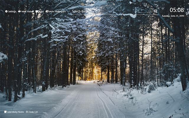Winter Wallpaper HD New Tab Theme©