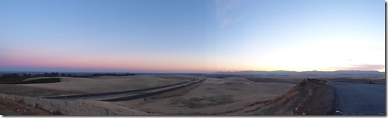 San Joaquin Valley to Coast Range, from California Aqueduct Vista Point, I-5
