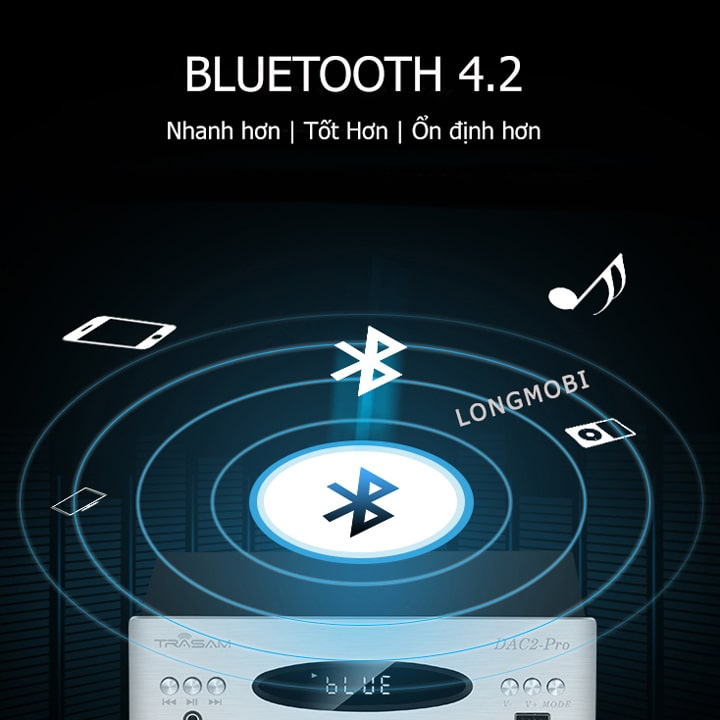 dac 2 pro dac nghe nhac dsd bluetooth