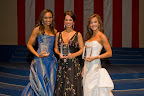 Miss Texas preliminary talent winners were, from left, Miss Texarkana, Adrianna Nelson; Miss Fort Worth, Faith Bates; and Miss North Texas, Kristen Blair, who won the pageant.