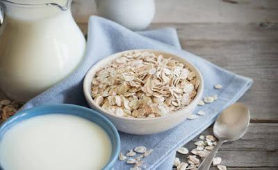 وجبة الشوفان مع الحليب لزيادة الوزن