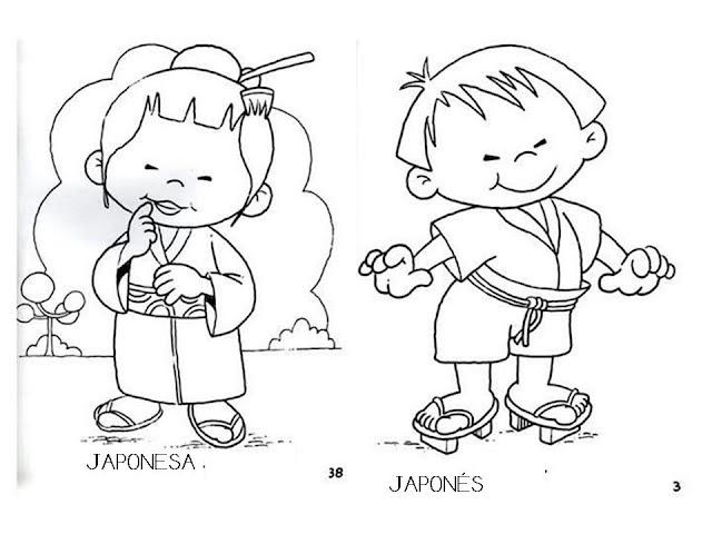Bonito Páginas Japonesas Para Colorear Ilustración - Páginas Para ...