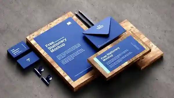 موك اب هوية شركة متكامل 2021 Branding Identity Stationary Mockup