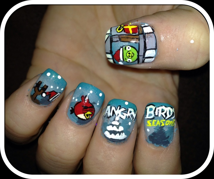 12 Interesting Angry Bird Nail Designs 2015 | Fashionte