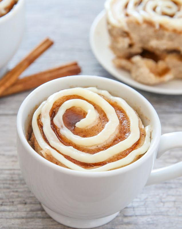 cinnamon roll mug cake kirbie s cravings