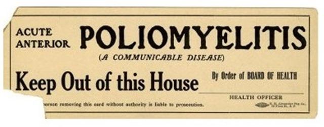 polio quarantine sign