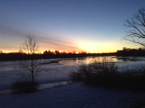 March dawn on the Rideau