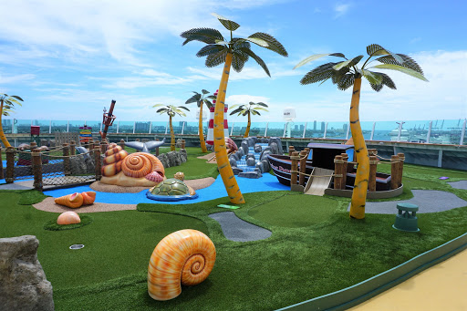 Mariner_Dunes.jpg - The new mini-golf course on deck 13 forward is challenging for cruisers of all ages. Open all day and night, the Mariner Dunes is a nautically themed nine holes of fun!