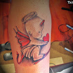 devil leg tattoo