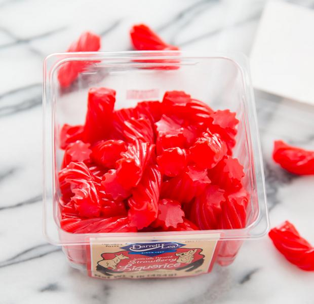 overhead photo of Strawberry Licorice