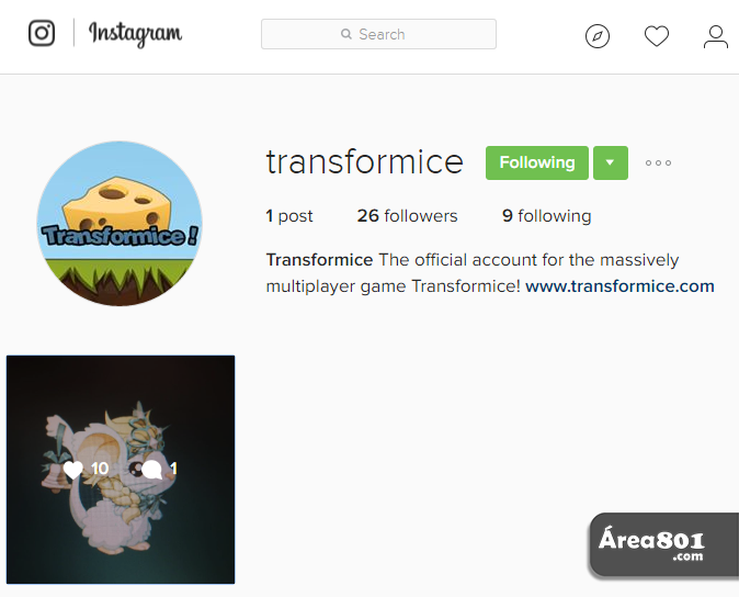 conta transformice instagram md