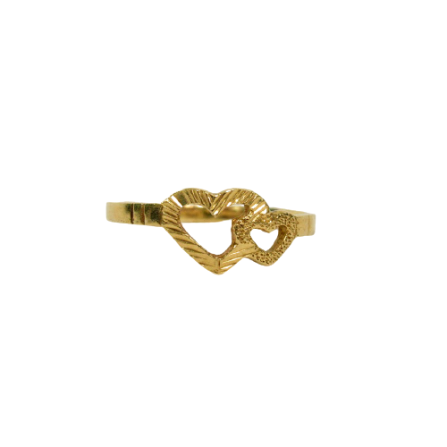 10K Gold Two Hearts Ring