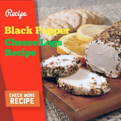 Black Pepper Cheese Logs