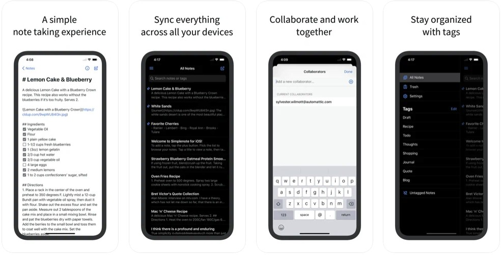 Simplenote - The simplest way to keep notes