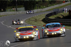 The Flying Lizards Porsche team ran in both the PRO and AM categories and their Le Mans curse continued (PHOTO: Porsche)