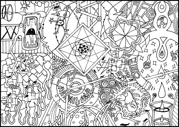 Detailed Coloring Pages For Adults  Colouring Page  By Punkeverything  On Deviantart