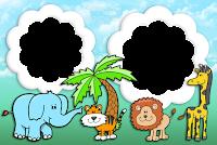 molduras-para-fotos-gratis-animais-safari
