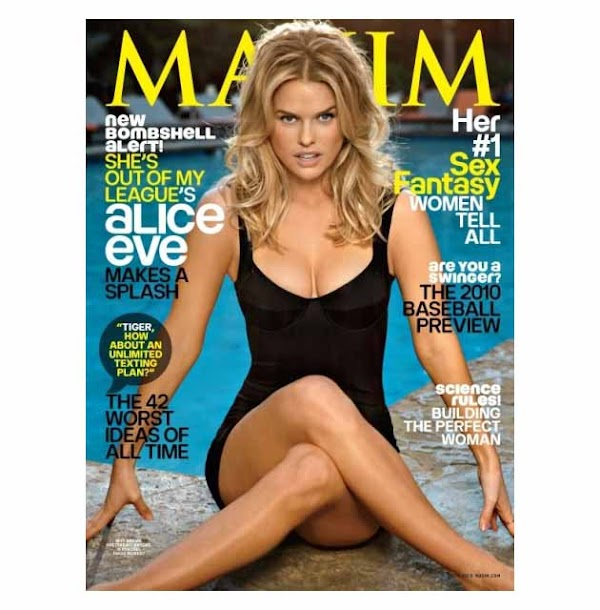 That girl you see in ads every 15 minutes, Alice Eve, did Maxim:celebrities,girl0