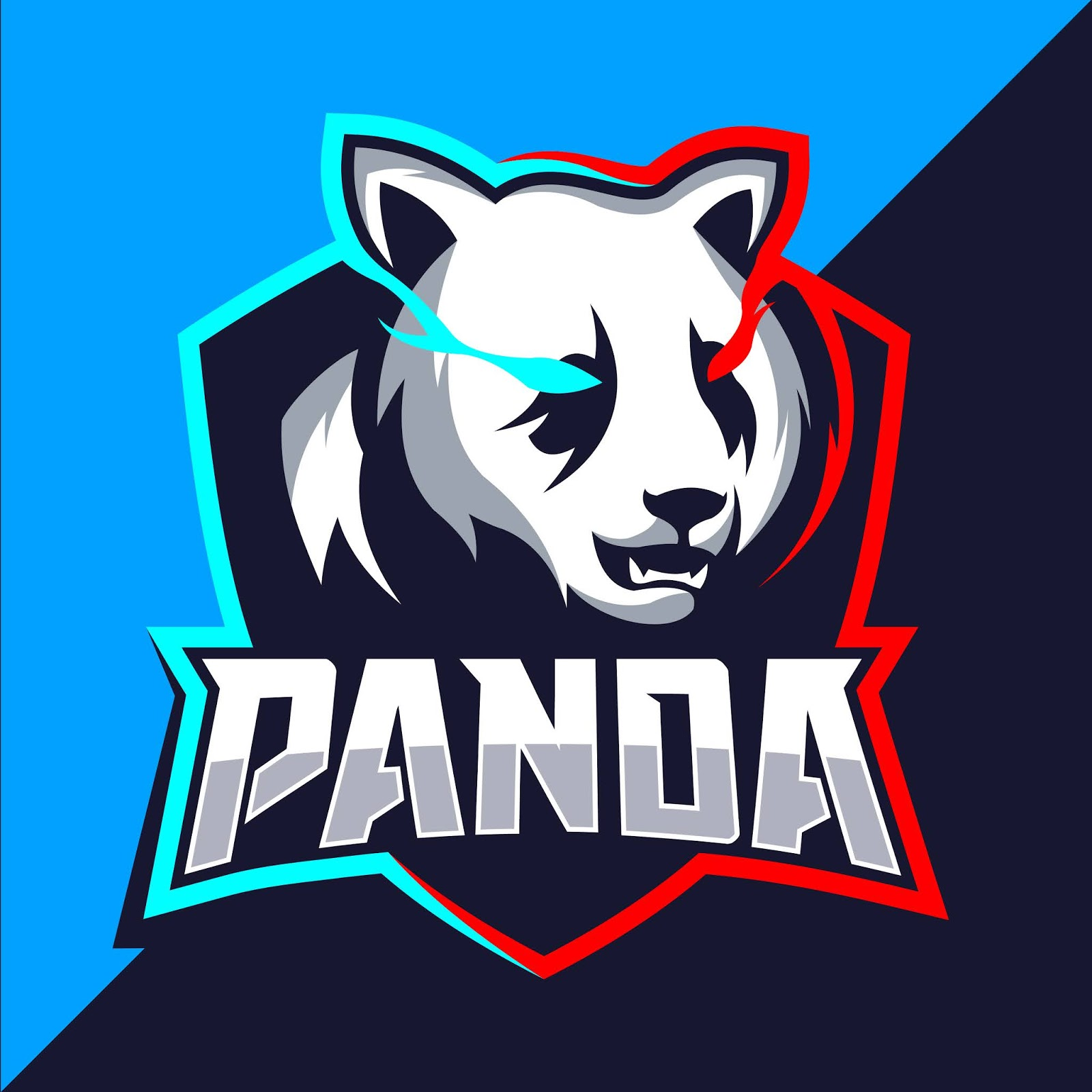 Panda Squad With Sword Mascot Esport Free Download Vector CDR, AI, EPS and PNG Formats