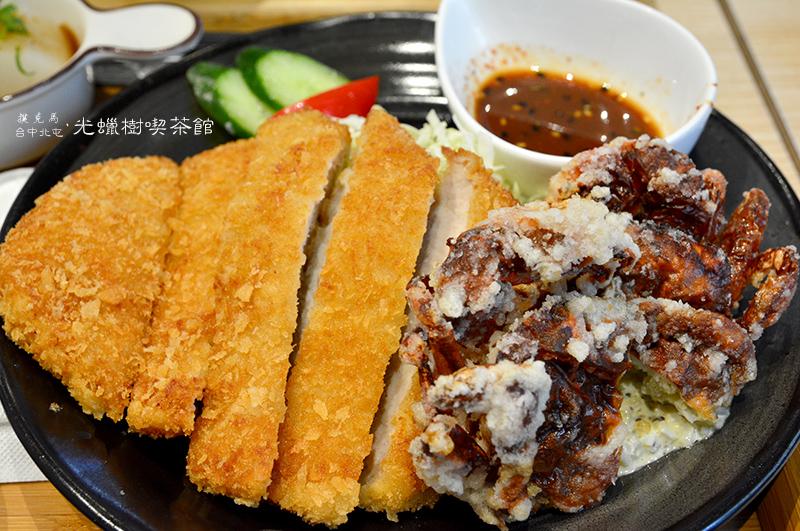 光蠟樹喫茶館酥炸軟殼蟹拼日式豬排