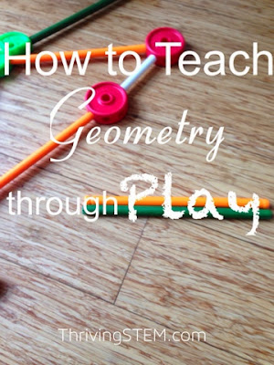 Use Tinker Toys to discuss shapes with your preschooler.