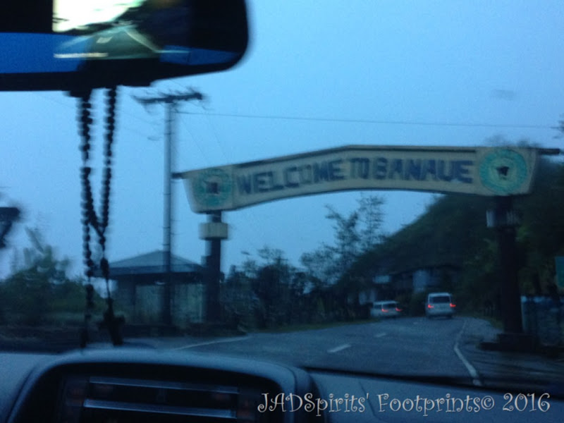 The sight of the Banaue Welcome sign...we arrived