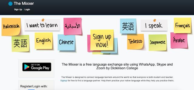 Site educacional gratuito para intercâmbio de idiomas via Skype