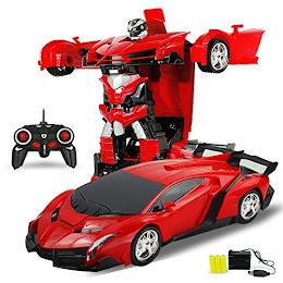 Masinuta cu telecomanda 2 in 1 transformabila in Robot Transformers