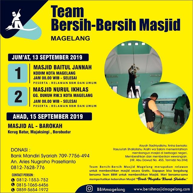 Bergabunglah dalam Kegiatan Bersih-Bersih dan Bazar murah di Masjid Al-Barokah Keruk Batur Majaksingi Borobudur Kabupaten Magelang
