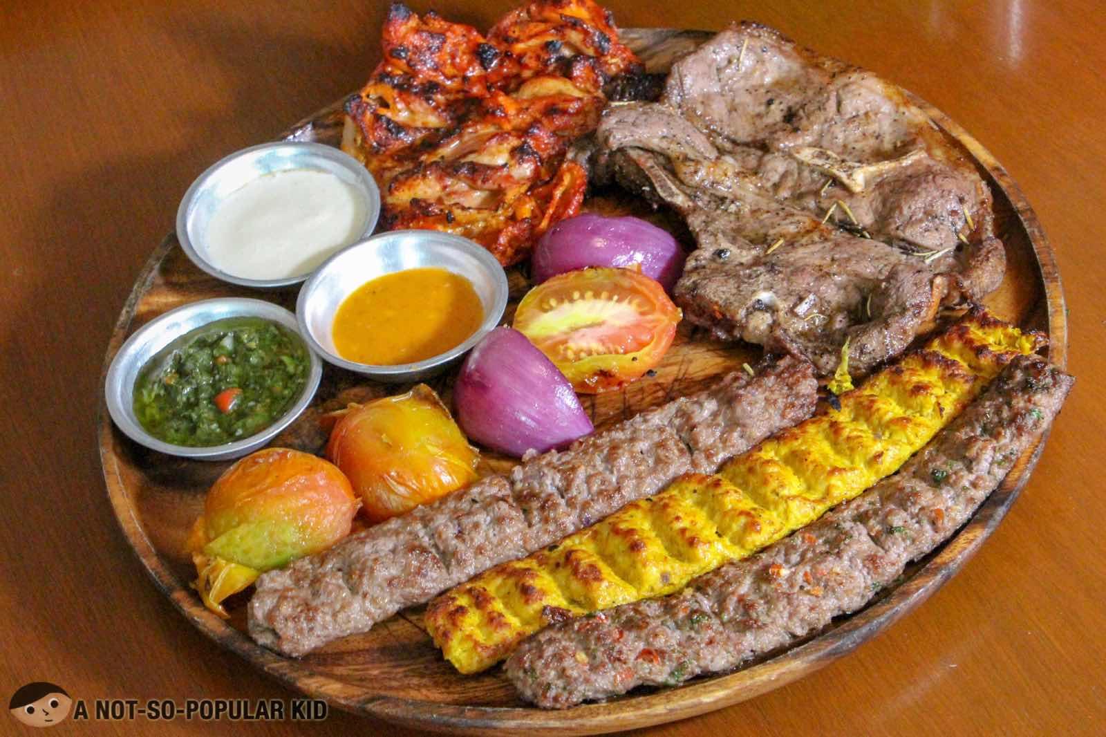 Kebab Sampler Platter of Kite Kebab Bar