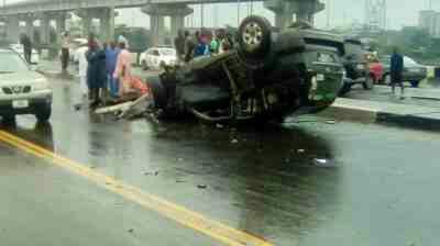 PHOTOS: Multiple Accident On Eko Bridge