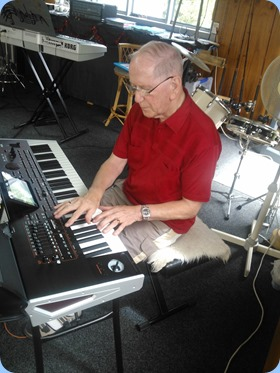 John Beales plyaing the Korg Pa4X.