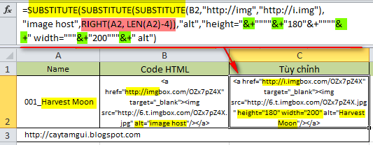 Hàm xóa, kết hợp, thay thế chuỗi/ký tự trong Excel
