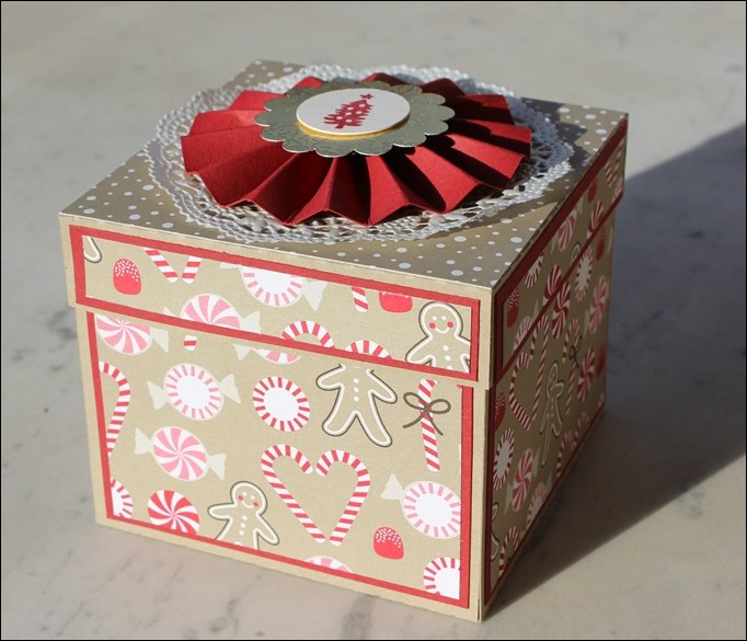 Explosion Box Weihnachten Christmas Candy Cane Lebkuchenhaus Gingerbread House LED 01