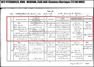 FITZCHARLES_John marriage to Eliza Jane McKenna Montcrief_in 4 Sep 1872_from Scotlands People site