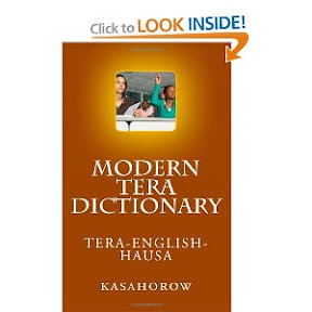 Modern Tera Dictionary: Tera - English - Hausa