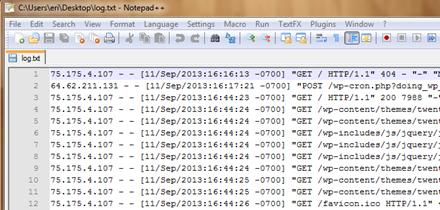 file Raw Access Logs cpanel