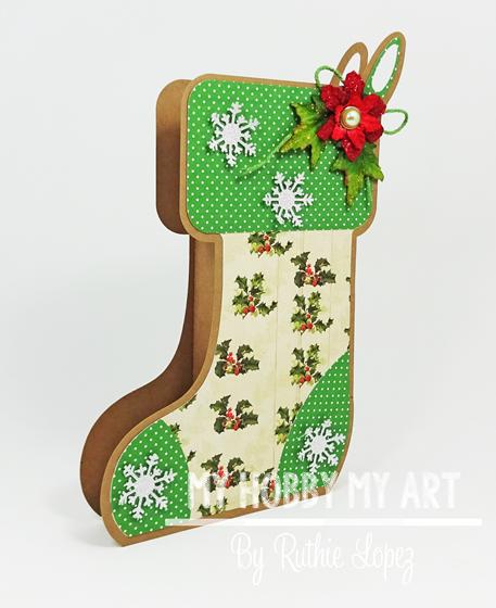 Stocking Box, The Cutting Cafe, Ruthie Lopez, Navidad. 3
