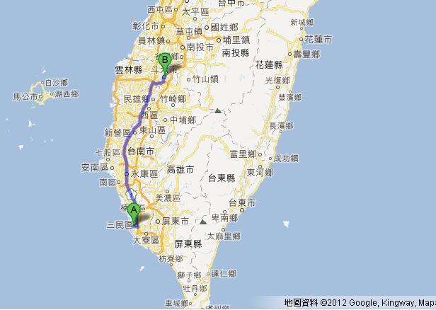交通-從高雄到雲林的交通方式